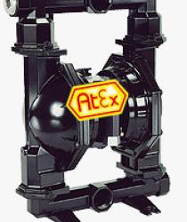 FDM 50 AL/S/GG - Pompy membranowe z napędem pneumatycznym ze stali nierdzewnej 1.4571, aluminium lub żeliwa szarego o wydajności do 650 l/min