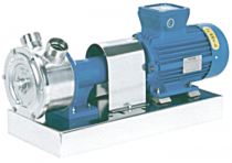 GR ADPE SPECJAL - Pompy z wirnikiem elastycznym, z silnikiem elektrycznym, z zabezpieczeniem przeciwwybuchowym, zamocowane na płycie podstawy