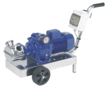 VA - Pompy z wirnikiem elastycznym, blokowe z silnikiem przekładniowym i ręczną regulacją obrotów