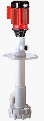 F 640 PP/PVDF - Pompy wirowe pionowe, z uszczelnieniem mechanicznym